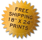 Free Shipping on 18 x 24 prints