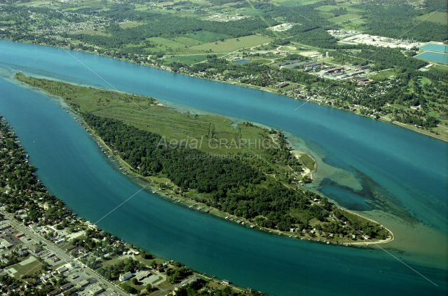 Stag Island in St. Clair County, Michigan