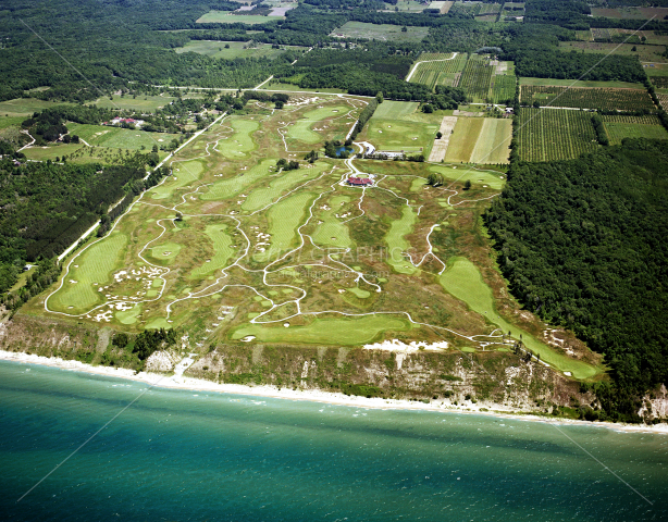 Arcadia Bluffs Golf Club, looking East in Manistee County, Michigan