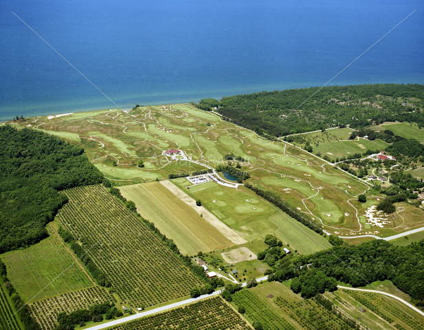 Arcadia Bluffs Golf Club looking West in Manistee County, Michigan