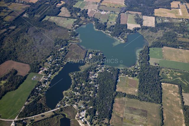 Hemlock Lake & Carpenter Lake in Hillsdale County, Michigan