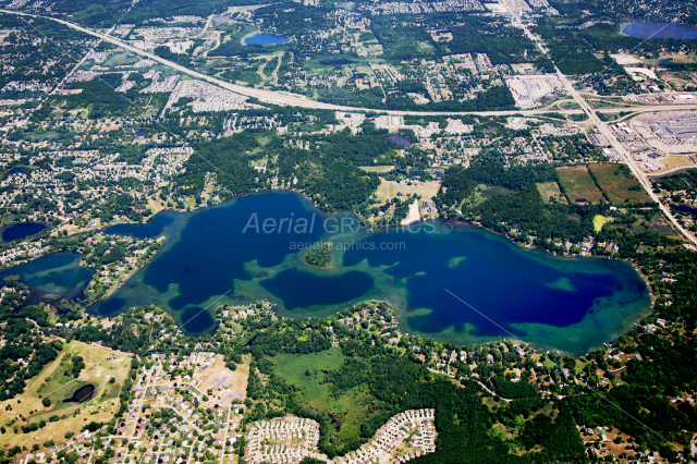 Lake Angelus in Oakland County, Michigan