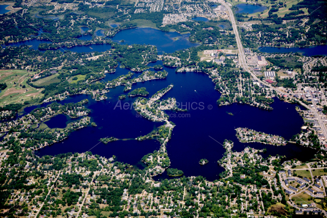 Lake Orion in Oakland County, Michigan