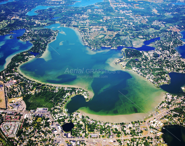 Cass Lake in Oakland County, Michigan