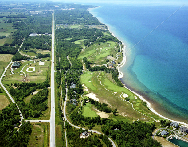 Bay Harbor Golf Club (Looking West) in Emmet County, Michigan