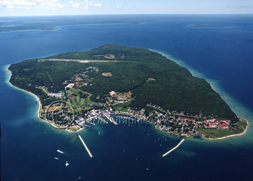 Mackinac Island aerial photograph